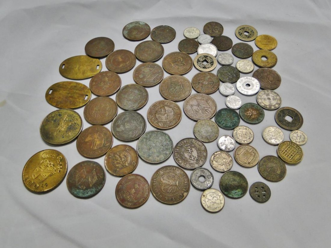 Huge assortment of Oriental coins from 1800s through