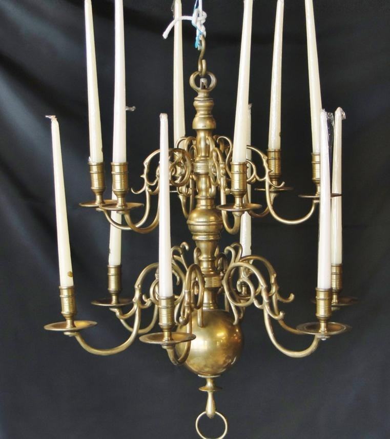 Very fine Georgian bronze chandelier, 18th/19th