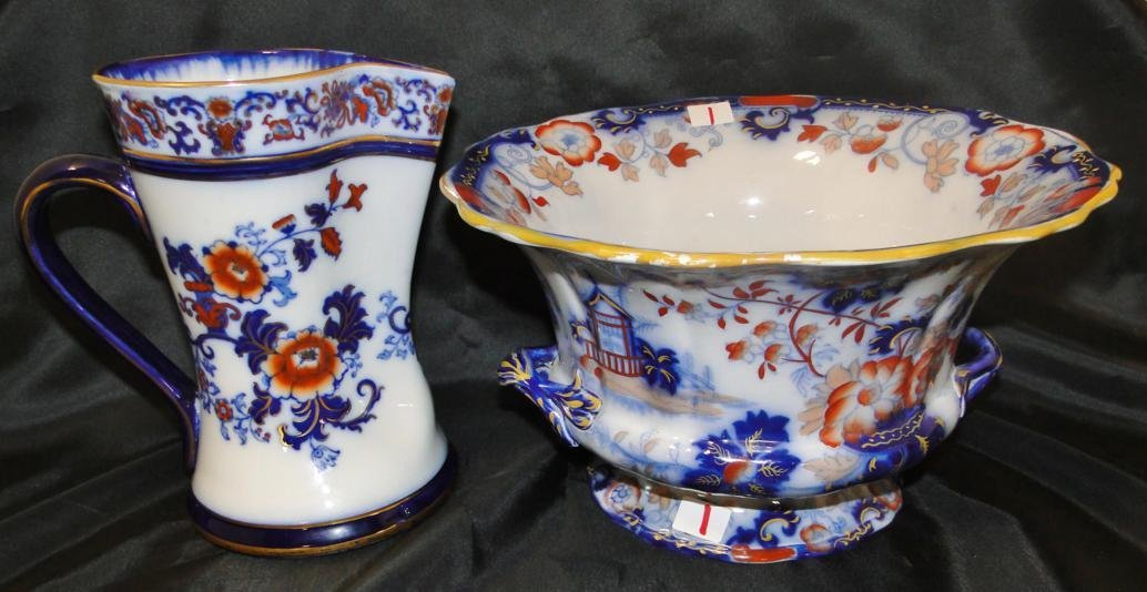 Two rare pieces, one an irregular pitcher signed