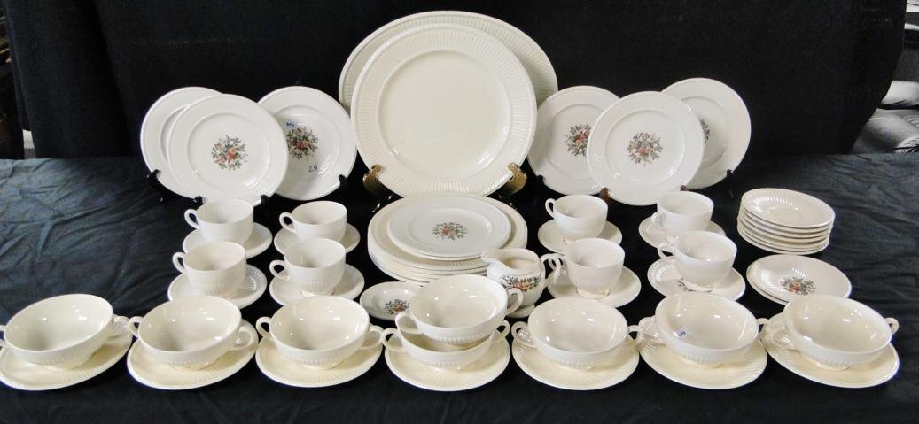 A large assortment of Wedgewood in the Etruria pattern