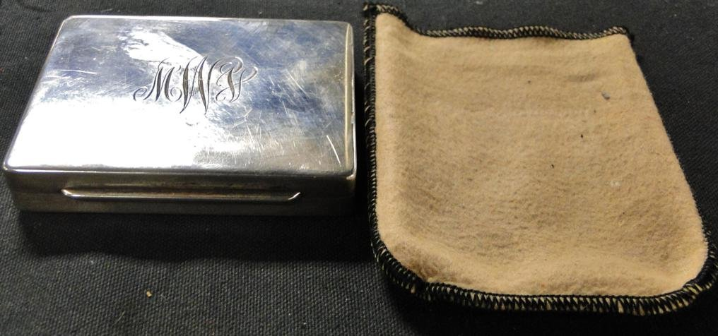 Signed sterling silver cigarette case monogrammed along