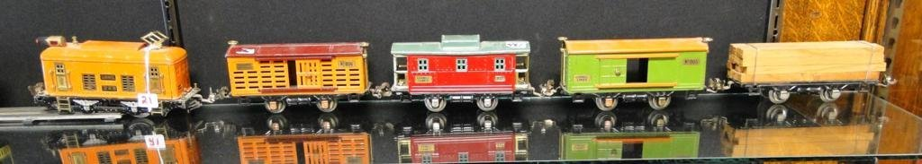 Lionel train engine #248, along with box car #805 and