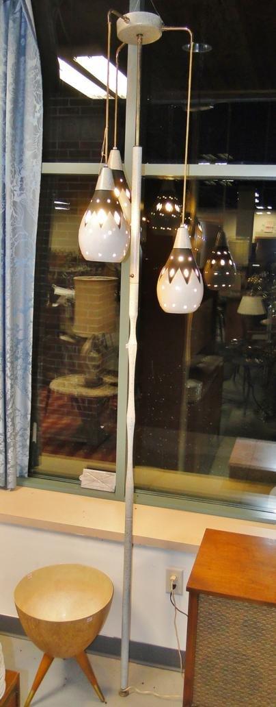 1960's Haeger pottery hole lamp with three pottery - 4