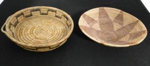 Two Southwest handcrafted Indian baskets, probably from