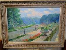 Quality Parisian contemporary large oil on canvas by