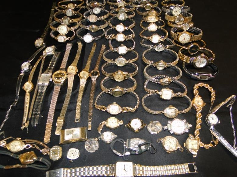 An immense lot of women's wrist watches from the 30's,