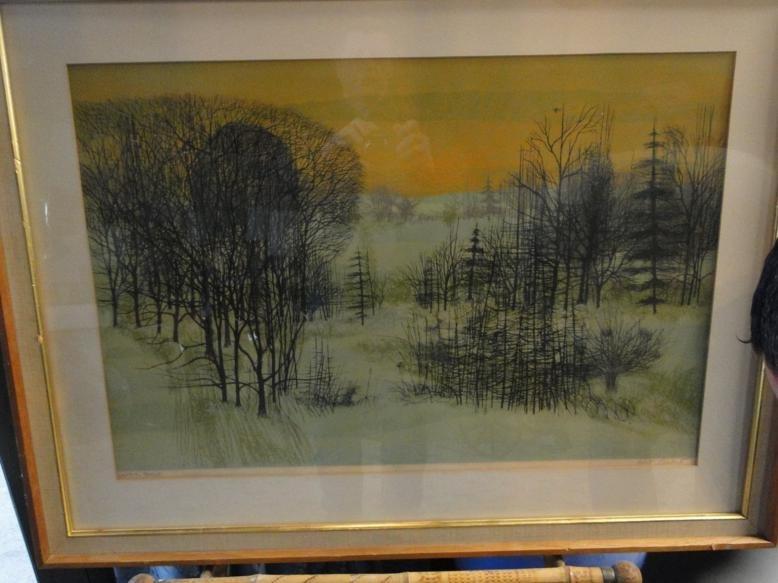 "Artist signed print by Robert Burkut titled ""Winter"