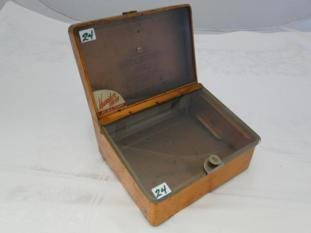 A 1930's-40's counter-top display humidor in glass and