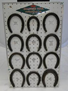 A Diamond Tool horseshoe display of all the sizes one