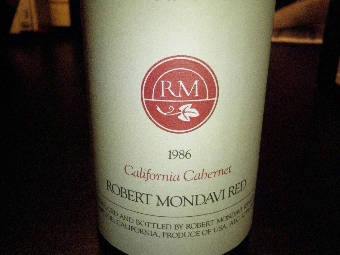 7: California Cabernet Robert Mondavi Red – 1986