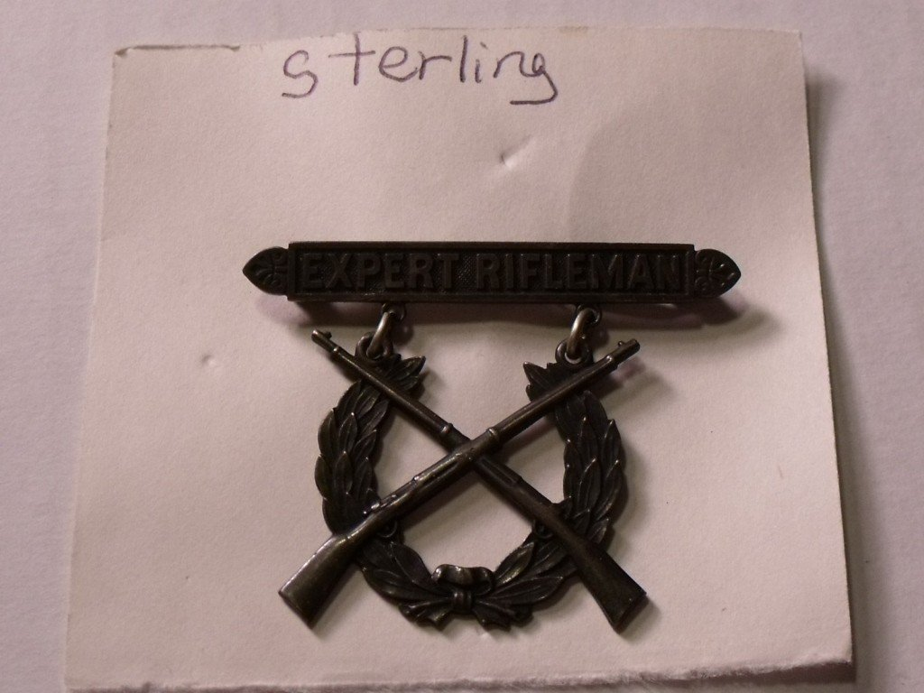 166: Sterling Expert Rifleman Badge