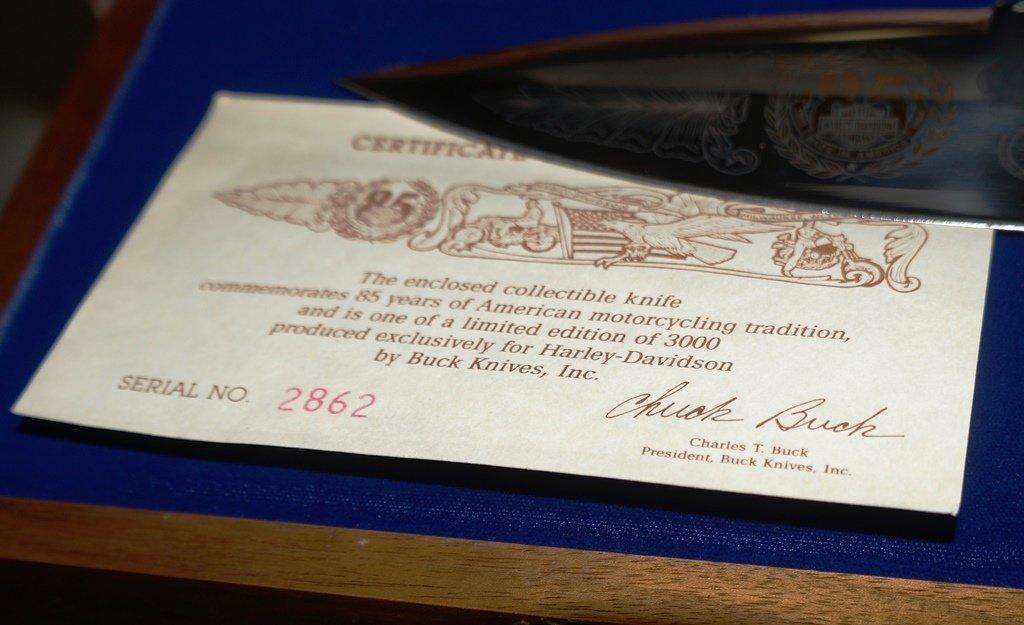 1988 HARLEY DAVIDSON LTD. EDITION BOWIE MODEL 90 KNIFE - 5