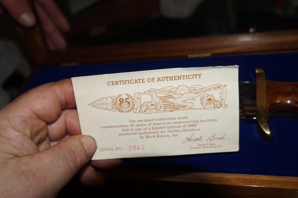 1988 HARLEY DAVIDSON LTD. EDITION BOWIE MODEL 90 KNIFE - 6