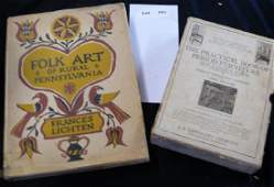 2 ANTIQUES REFERENCE BOOKS: FOLK ART OF RURAL