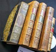 5 LEATHER BOUND BOOKS   ILIAD  Homer  trans by Edw