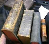 3 BIBLES & DICTIONARY OF THE HOLY BIBLE For General