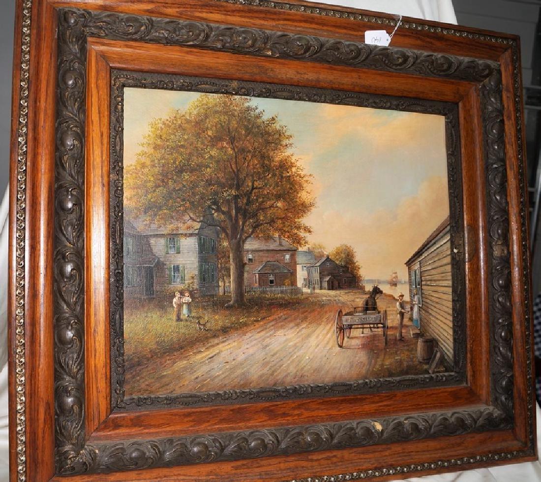 Fabulous Painting, Oil/Board, Water Street,