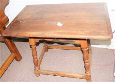 Early Curly Maple Base with Pine Top Tavern Table