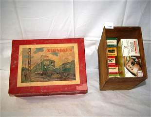 Kleinbaum HO train set in original box with a modern