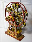 Tin Litho Windup Toy Mechanical Hercules Ferris