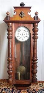 Lenzkirch Vienna Regulator wall clock, 2 brass weights