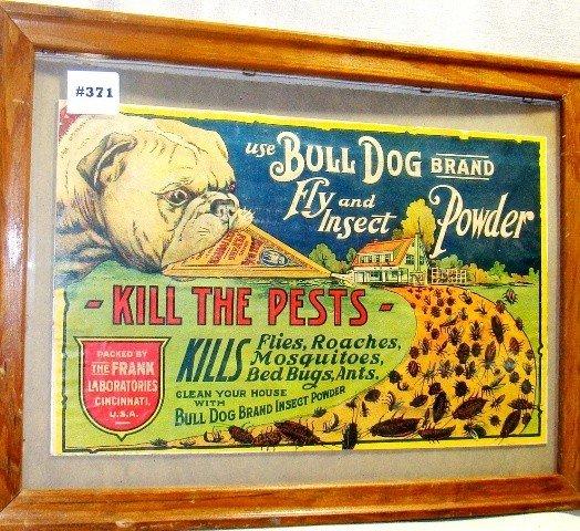"371: Advertising, label for ""Bulldog Brand Flying Insec"