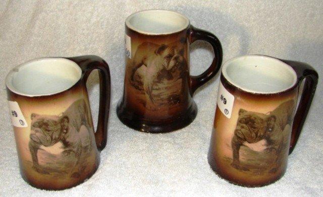 9: Pr. of  semi-vitreous china mugs w/standing Ch. Rodn