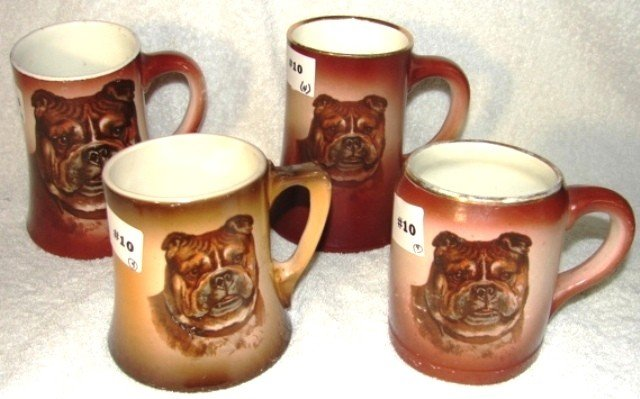 10: 3 Anchor Pottery, semi-vitreous china mugs & a sing