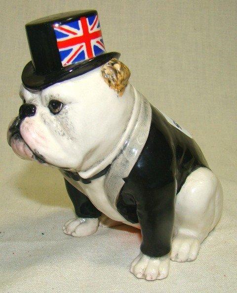 605: Royal Doulton, The British Bulldog, seated, Black