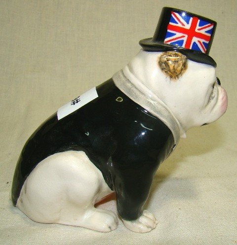 605: Royal Doulton, The British Bulldog, seated, Black - 2