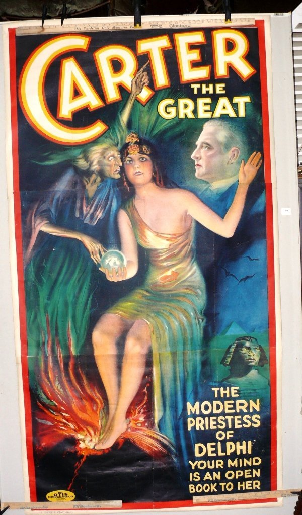 "Carter The Great poster, ""Delphi Priestess"", ca 1926"