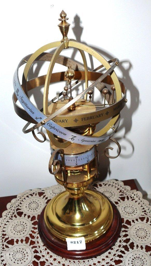 Devon Clock Co. Mechanical orrery w/annular dial modern