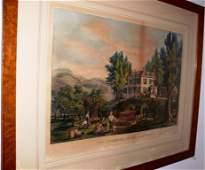 "Currier & Ives, litho, ""The Farmer's Home - Autumn"""