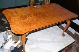 DR Dimes QAstyle tiger curly maple coffee table