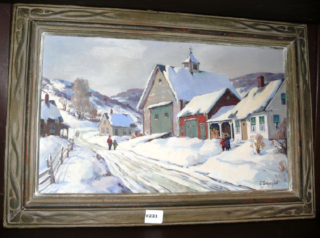 "Painting, o/b, ""Vermont Hills"", 14""x20"", J. Greenleaf"