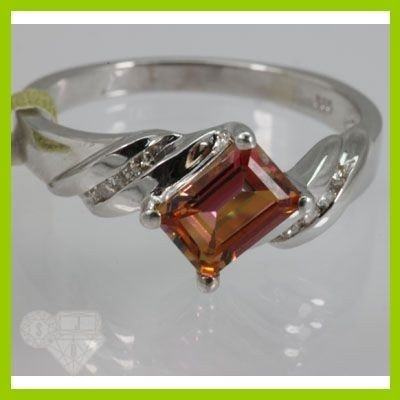 Genuine  1.33 ctw  Twilight Pink Tourmaline Ring  14KT