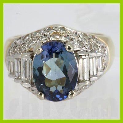 Genuine 4.86 ctw Tanzanite Diamond Ring 14k Yellow Gold
