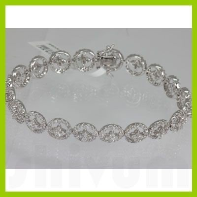 Genuine  4.28 ctw Diamond Bracelet 18KT White Gold