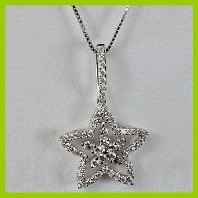 140633428: Genuine 0.53 ctw Diamond Pendant 18kt Gold-W