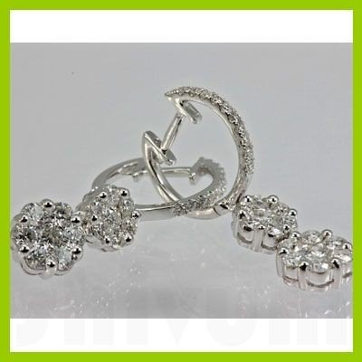 141133456: Genuine 1.25 ctw Diamond Earring 18kt Gold-W