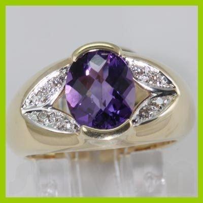 141277023: Genuine 2.31 ctw Amethyst Diamond Ring 14KT