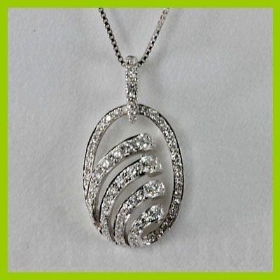 141433408: Genuine 0.57 ctw  Diamond Pendant 18kt Gold-