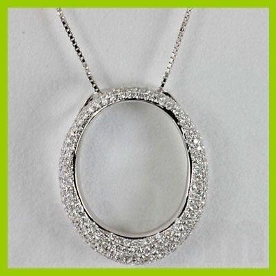 142733416: Genuine 1.41 ctw Diamond Pendant 18kt Gold-W