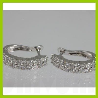 Genuine  1.07 ctw Diamond Earring 18KT White Gold