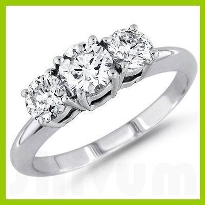 0.50 ctw Round cut Three Stone Diamond Ring, F-G, SI2