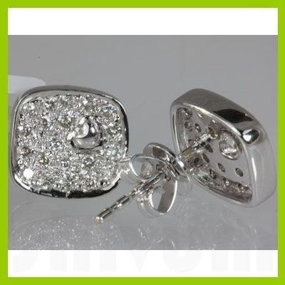 Genuine 0.42 ctw Diamond Earring 18kt Gold-White