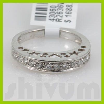 Genuine 0.52 ctw 14k Diamond White Gold Ring