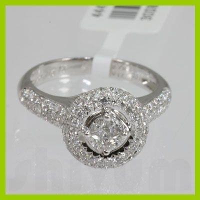 Genuine  0.91 ctw Diamond Ring 18KT White Gold