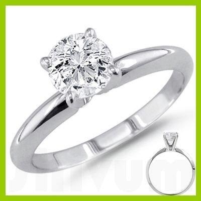 0.85 ct Round cut Diamond Solitaire Ring, F-G, VVS