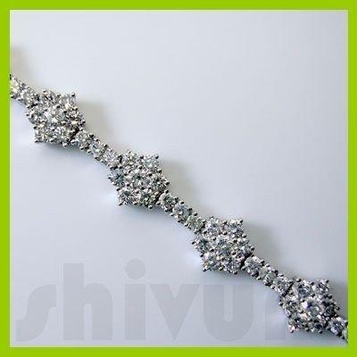 Genuine 4.51 ctw 14K Diamond Studded Fashion Bracelet